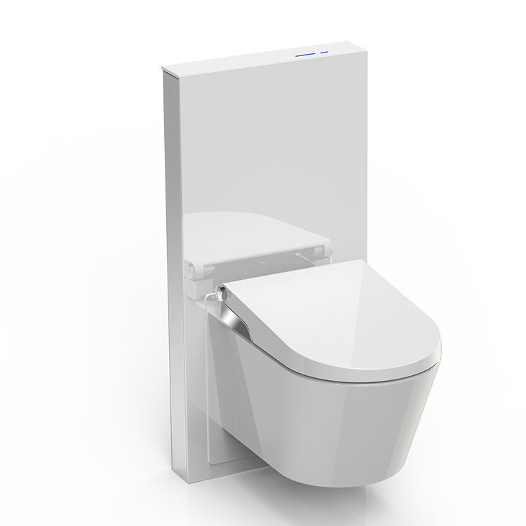 Lowest Price Bathoom Glass Cistern Smooth Glass Surface System Cistern Toilet