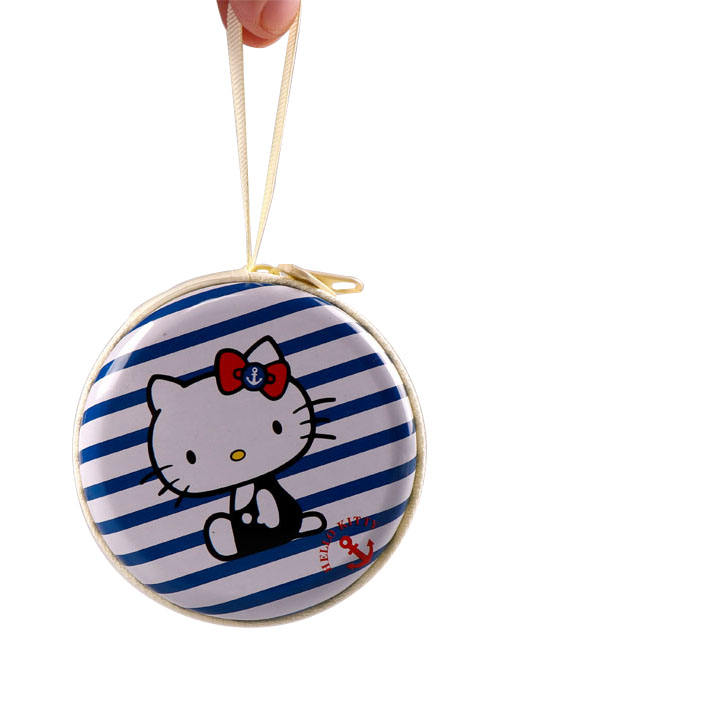 TOPSTHINK-<span class=keywords><strong>monedero</strong></span> de Hello kitty para niña, <span class=keywords><strong>monedero</strong></span> de metal, <span class=keywords><strong>monedero</strong></span> redondo de estaño