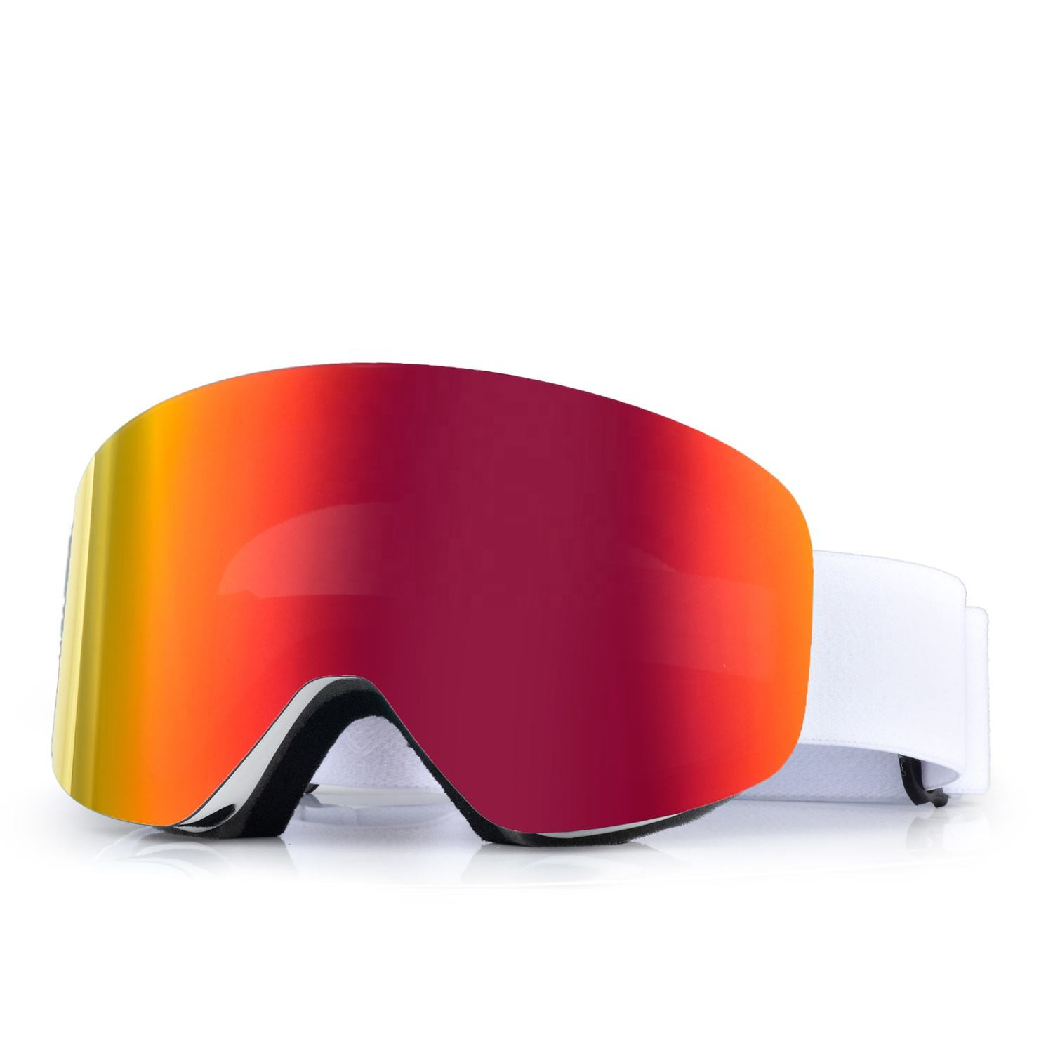 HUBO Sports support custom small wholesale magnetic frameless designer best mirrored snowboard glasses snow ski goggles