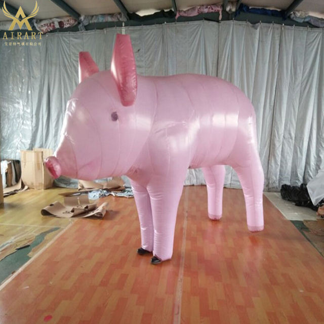 Giant Advertising Inflatable Cartoon Animal Pig