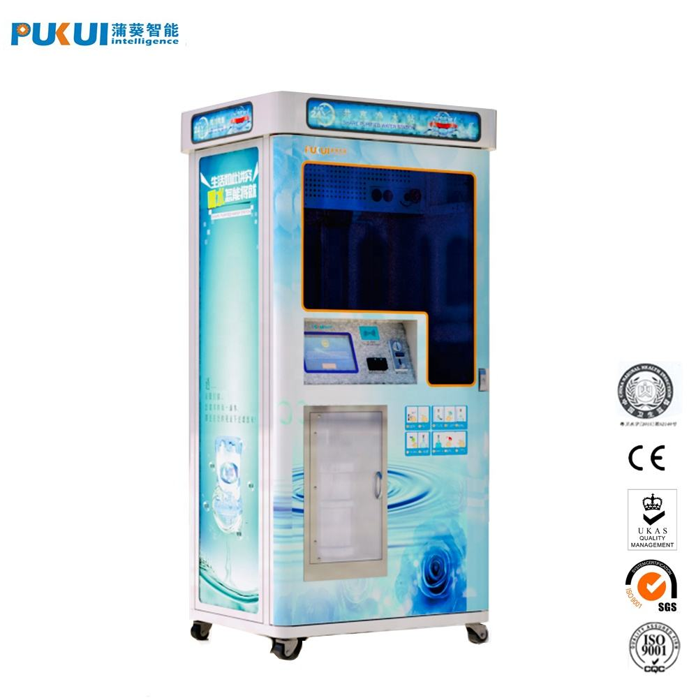 New Design Transparent Visualization Reverse Osmosis Purified Water Vending Machine