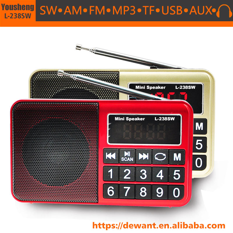 Ricaricabile usb lettore mp3 am fm sw pocket radio