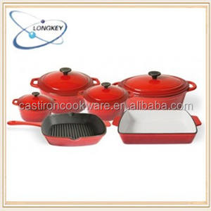 LFGB qualified enamel cast iron cookware