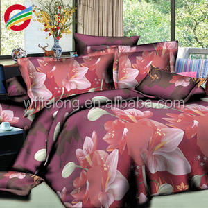 100% Polyester Printed Fabric Three D printing bedsheet 220*240cm