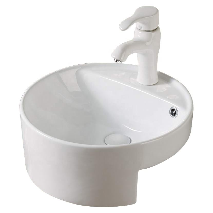 Australia Bathroom Semi-counter Basins Round Shaped Wash Basin