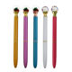 Newest promotional gifts kids romantic snow house secret garden ballpoint pen creative clear ball with snowflake X-mas gift pens
