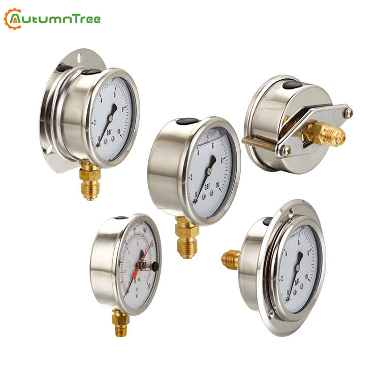 1.6% 600Bar DN63 Normal Use Liquid Filled Pressure Gauge With U-clamp