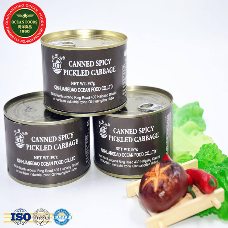 Canned spicy pickled cabbage canned vegetable