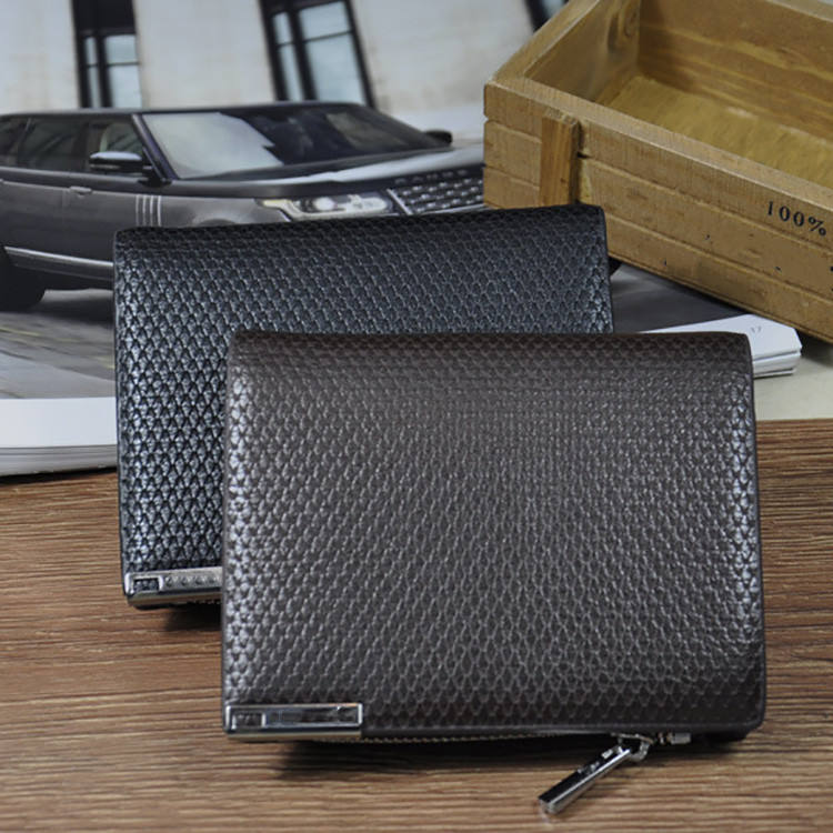 2 Fold Mens Business wallet organizer pouch