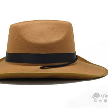 Orange Cowboy Blank Wholesale Wool Felt Hat