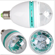 Baisun brand Auto Mini Party Light Stage Lighting Full Color RGB Plastic Rotating Lamp LED Bulbs E27 3W Bulb