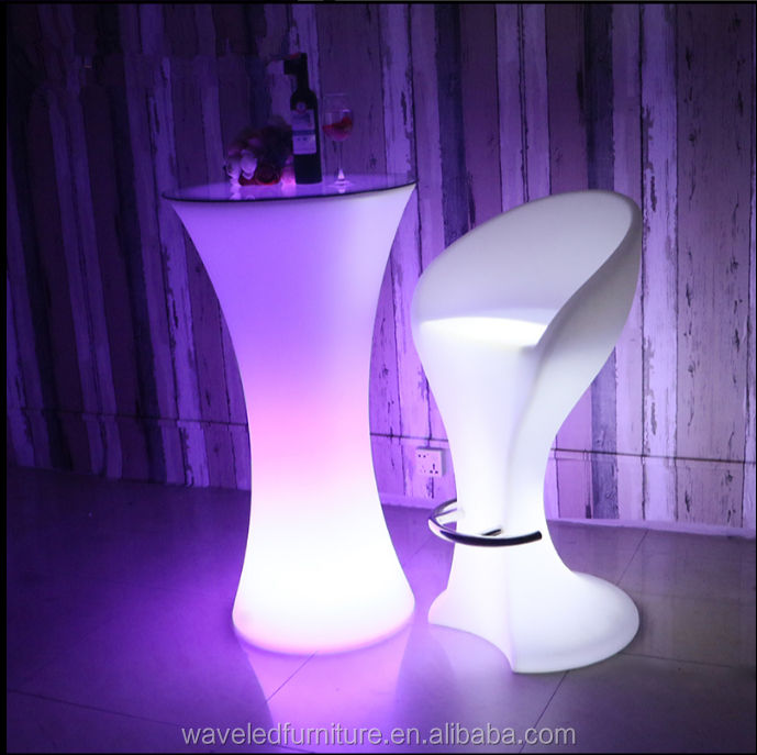 Nightclub disco furniture lighting outdoor led high top cocktail bar table