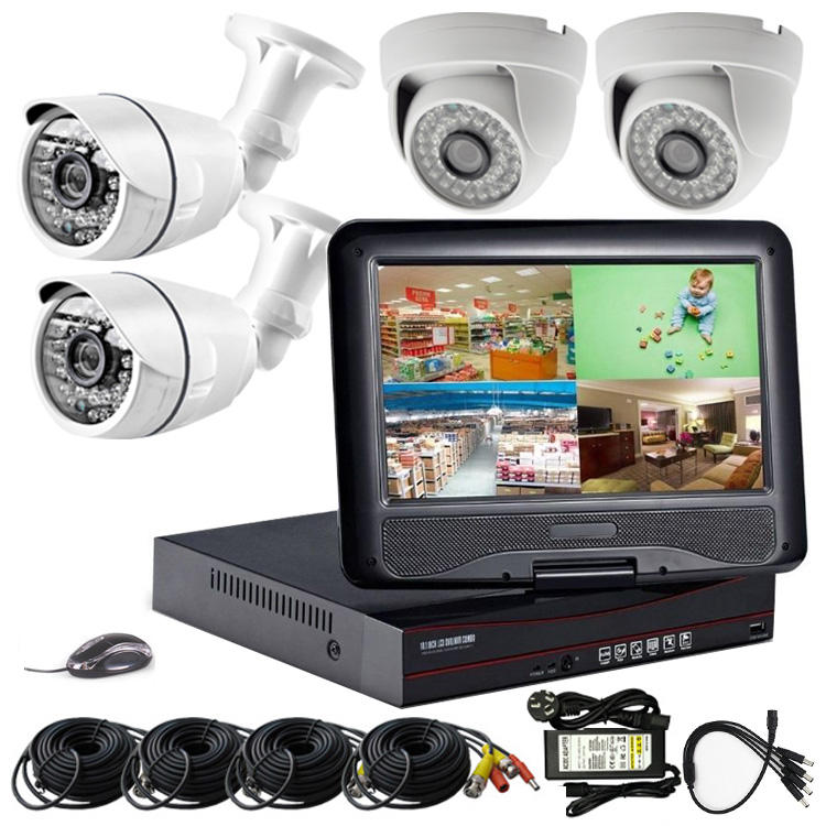New Promotion 4CH 1MP CCTV HD Camera DVR KIT