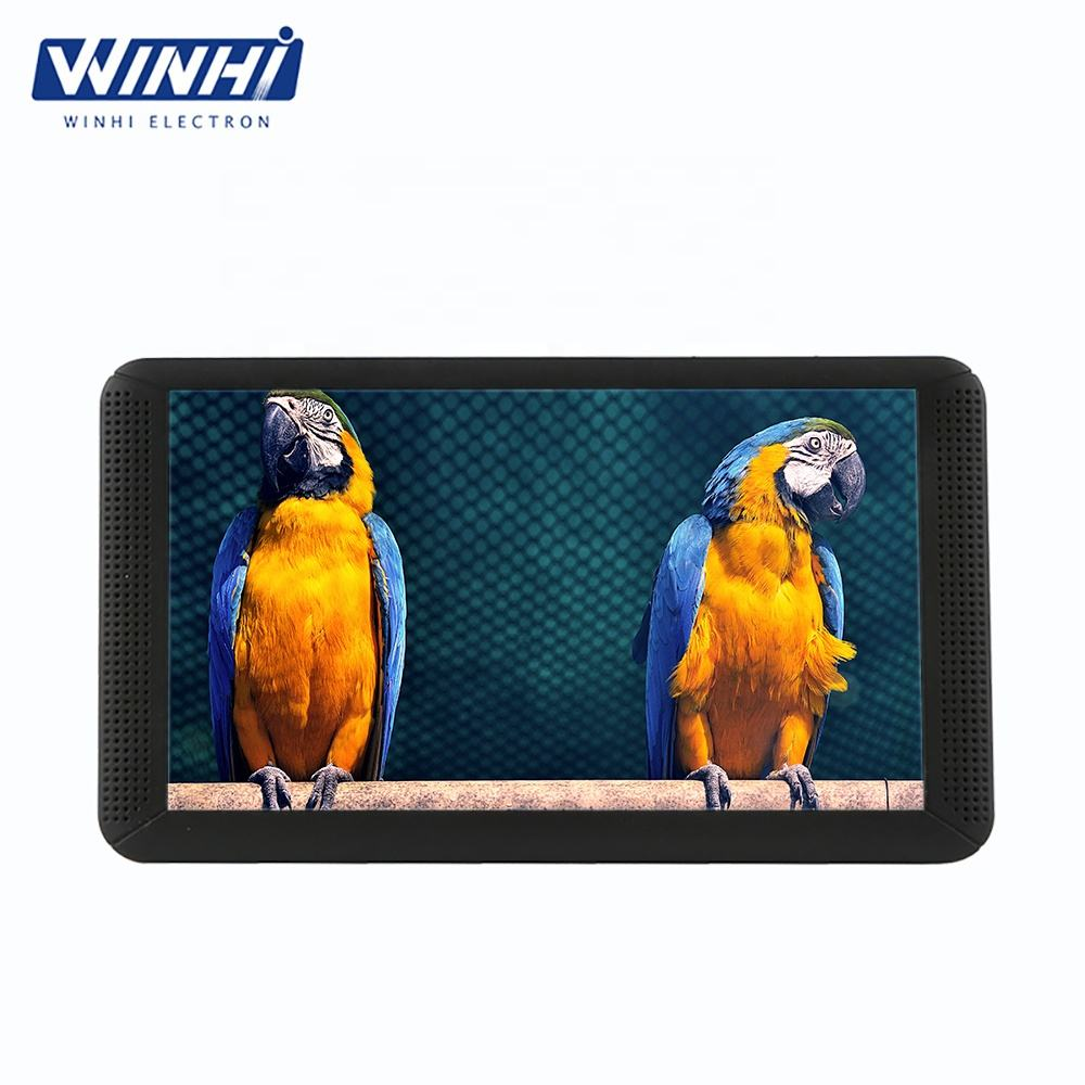 Resolution 1024*600 7'' memory card auto play mini portable 7 inch lcd video Advertising Players