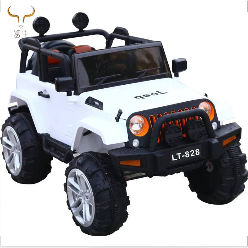 Big wheels kids electric children racing car toy with two seat/ remote control lithium4x4 battery car for children