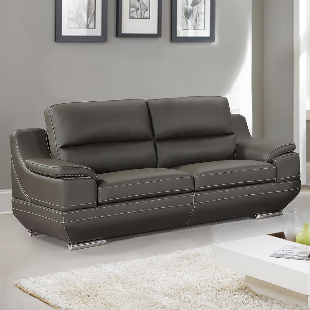 High quality modern chesterfield loveseat leather sofa living room furniture