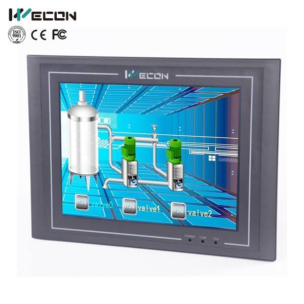 Wecon 10.4 inch hmi industries color display touch screen controller scada control system