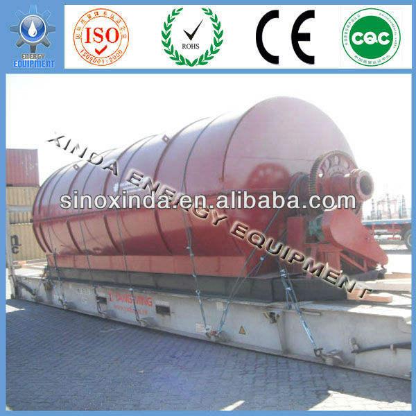 надежное качество отходы шины на нефть линии пиролиза