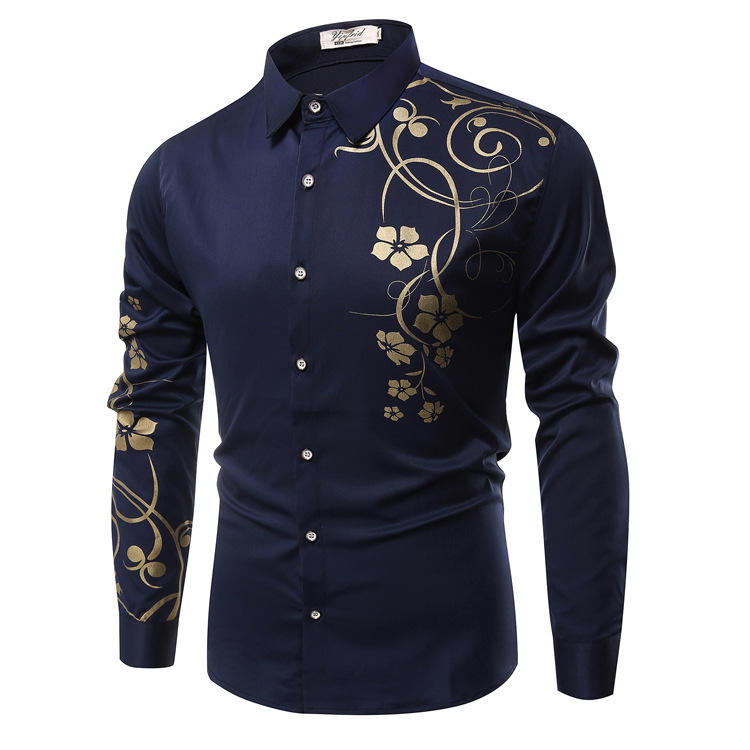 men fashion designer shirts with flower printing