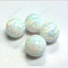 3mm 5mm 6mm 8mm 10mm Japanese Fire synthetic White Loose Opal gemstone for Summer days