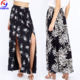 China suppliers bohemian gypsy ethnic floral print maxi women long skirt