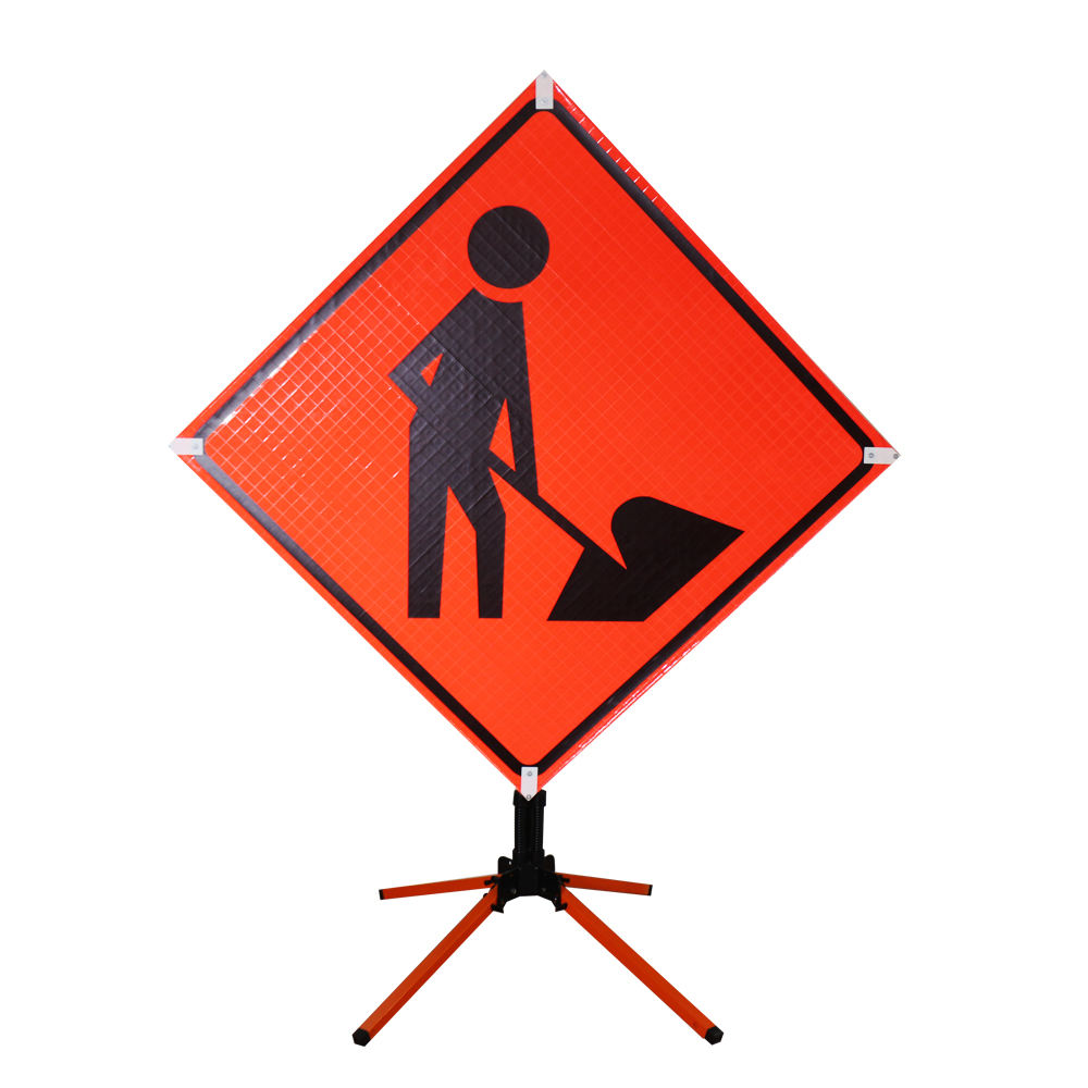 High Visibility Customized Reflective Flexible Road Sign Work Zone Roll Up Sign