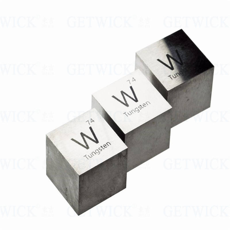 High quality 1kg tungsten wolfram cube block CNC marking for sale