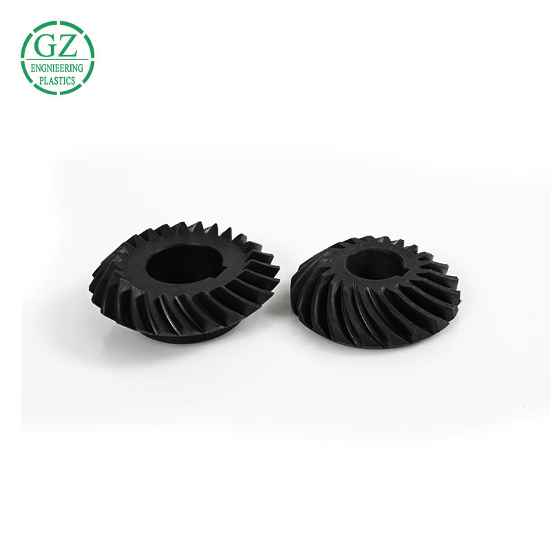 high precision custom made engineering plastic nylon gear wheel PA bevel gear