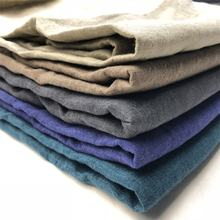 Enzymed stone washed delave yarn dyed linen fabrics for wholesale