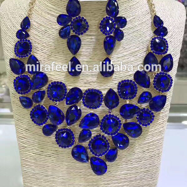 2018 wholesale fashion african beautiful rhinestone jewelry necklace set for nigerian wedding bridal jewelry D06-5