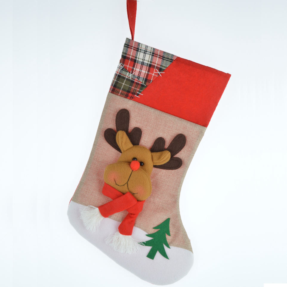 Christmas decorative snowman/milu deer/ santa clause red luck socks cartoon christmas socks for sale present for lovely kids