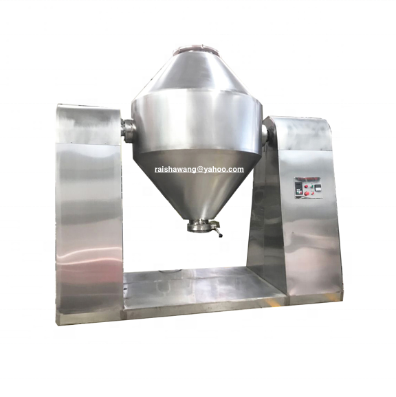 Pharmaceutical vacuum double cone rotary powder mixing dryer drying mixer