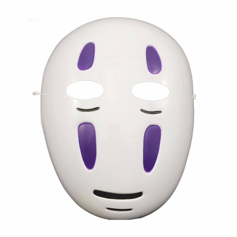 Dropshipping Miyazaki Spirited Away No-Face Masker Faceless Cosplay Helm Fancy <span class=keywords><strong>Anime</strong></span> Halloween Party Kostuum Japanse Maskers Speelgoed