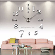 Best import items home inserts Luxury design 3D DIY wall clock watch