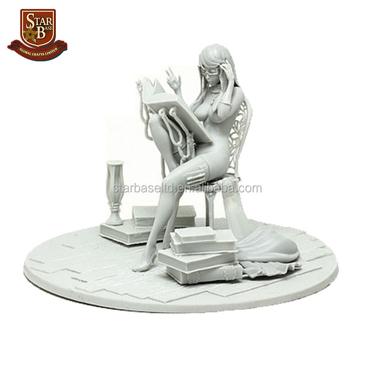 Pabrik custom made amunisi budak kecil sexy girl resin model kit