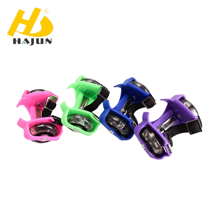 CE certified flashing lights street glider roller heel skate in good quality
