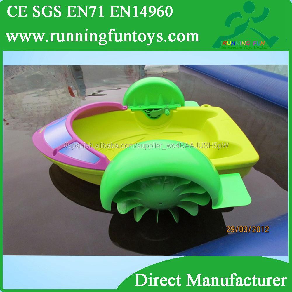 Mano powered niños bote de remos mano, bote de remos mano, parque acuático barco de ocasión para niños