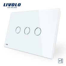 Livolo VL-C9 au/us type 3 wall switch plate with dimmer touch switch