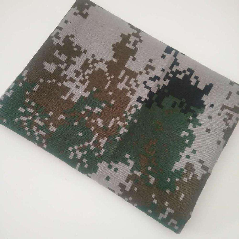 polyester cotton material twill camouflage for army uniform