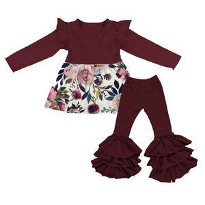 * Nuevo Chicas español un conjunto Vestido Gitana Azul 3 pieza conjunto de Bonnet edad 1M-24M d302
