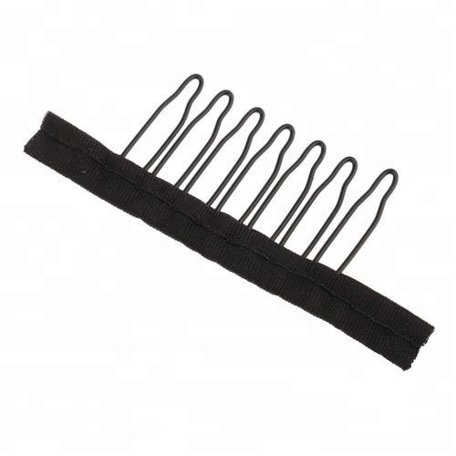 black color 7teeth steel small wig clips professional for wigs caps and ponytail wig comb clips