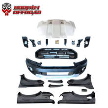 Wide body kit front bumper grille fit for ranger t6 t7 upgrade to ranger t8 raptor accessories
