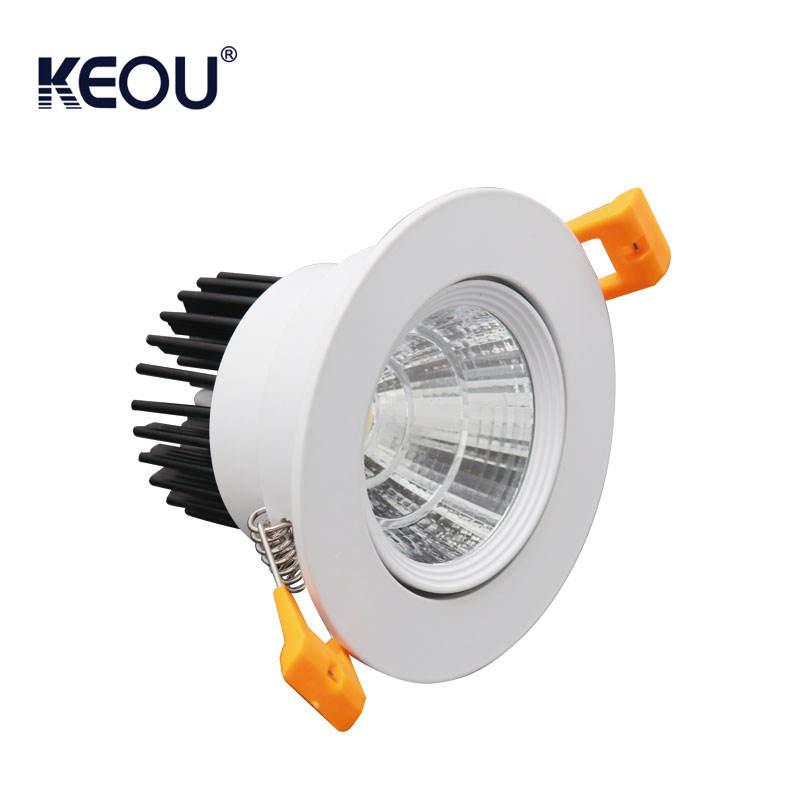 Verstelbare high power led downlight <span class=keywords><strong>dimbare</strong></span> cob led downlight 7 w