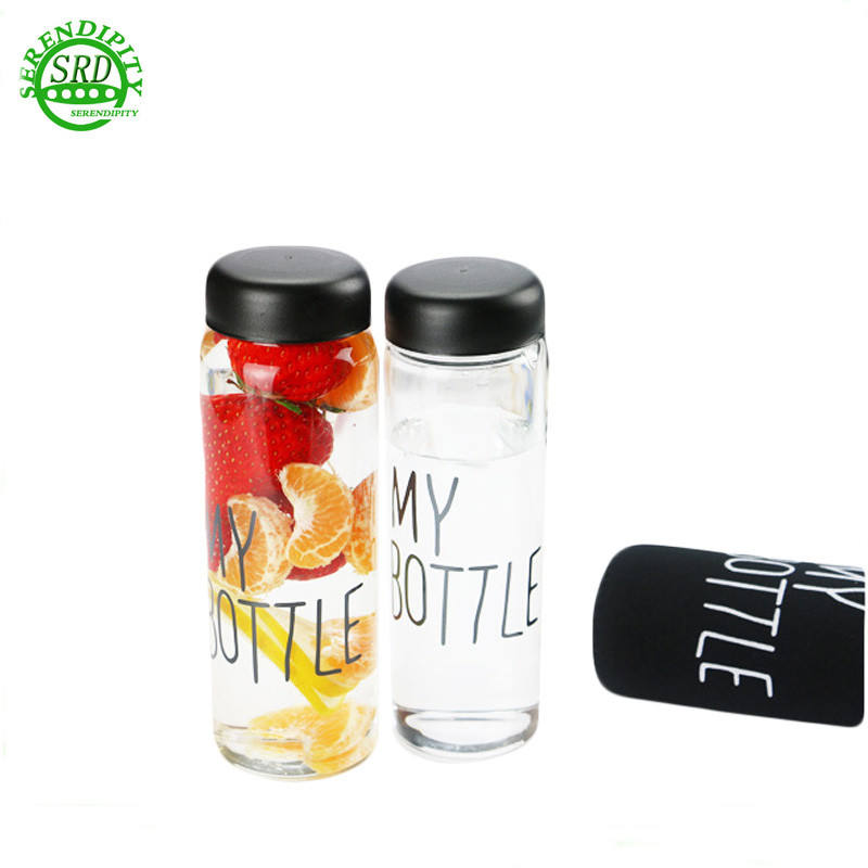 China manufacturer 500ml bpa free clear plastic drinking water bottle in bulk