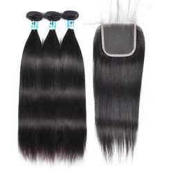 Wholesale Virgin Hair Vendors Factory Price With Cuticle Aligned Hair Unprocessed Raw Peruvian Hair Bundles With Closure