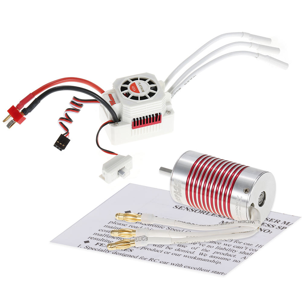 Surpass Platinum series 2845 brushless dc motor with 45A ESC for for 1/14 1/12 RC car Remote Control Toys