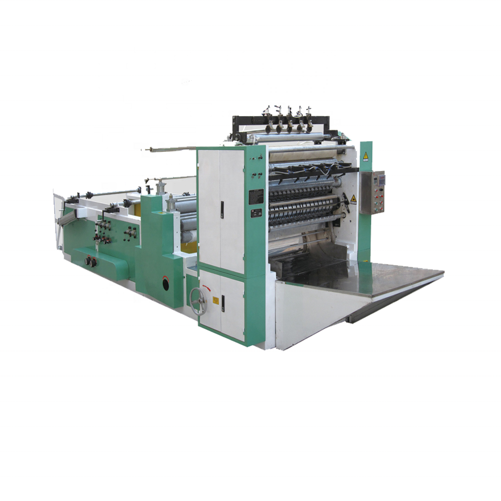 V fold facial tissue paper folding printing machine production line