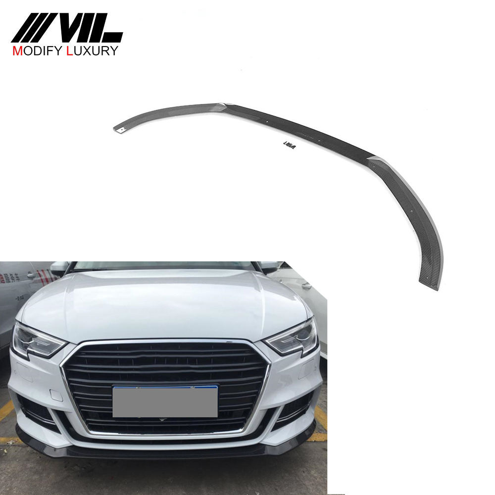 Carbon Front <span class=keywords><strong>lippe</strong></span> für Audi A3 S3 2017 2018