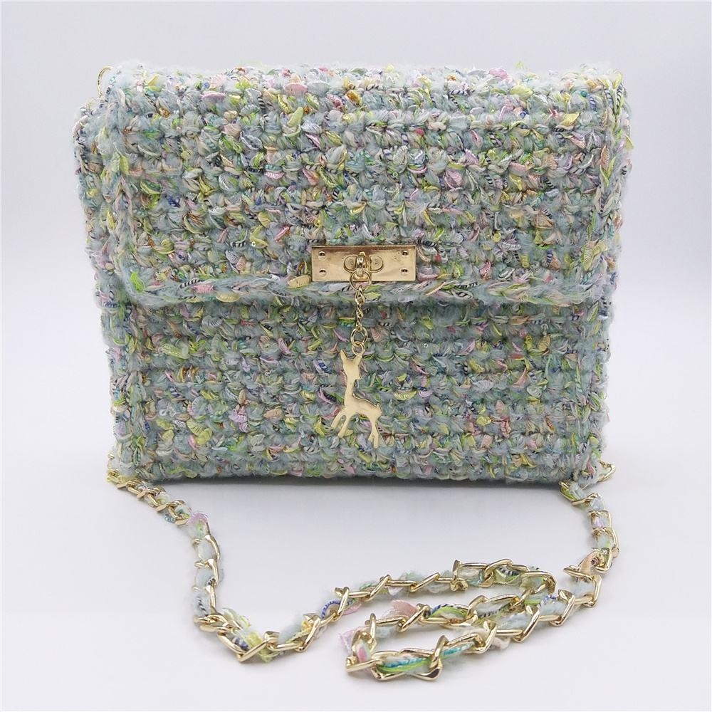 Fashion Woven Crochet Knit ladies womens Crossbody Shoulder Tote Bags Purse Handbag Messenger Bag