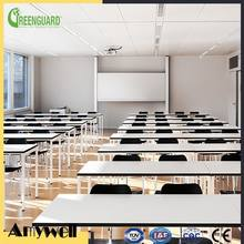 Amywell 10 years warranty Modern Fireproof waterproof white phenolic HPL/CDF University auditorium table